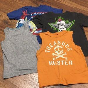 Four boys size 4 T-shirts